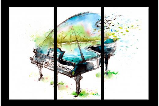 Модульная картина Рояль весенний
