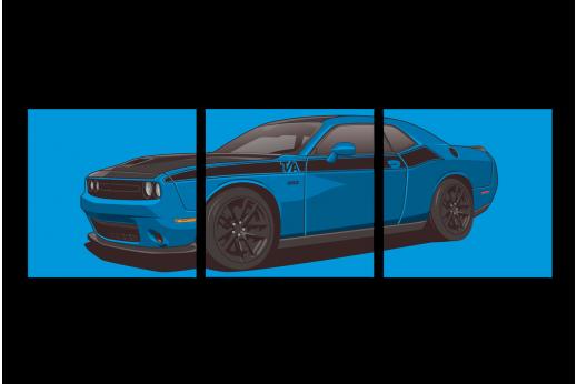 Модульная картина Dodge Blue