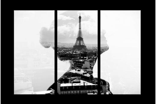 Модульная картина Чарующий Париж