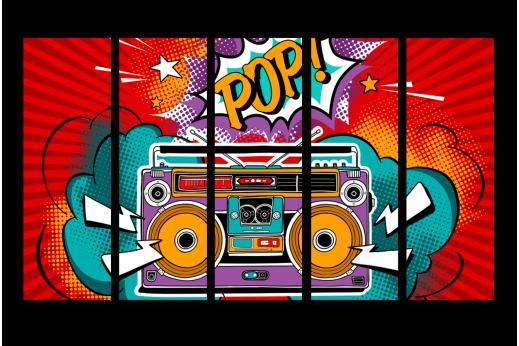 Постер Поп-арт Поп-музыка